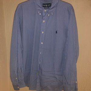 RALPH LAUREN MENS BUTTON DOWN DRESS SHIRT SIZE XL
